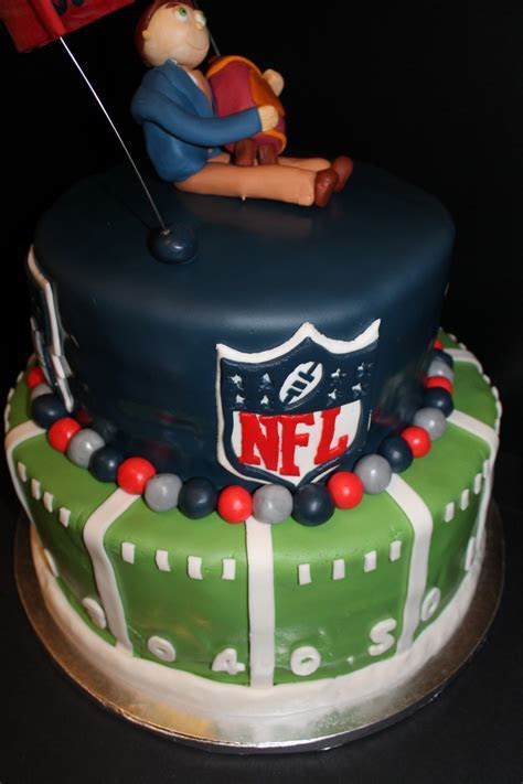 Patriots Bar Mitzvah Cake   Cake Decorating Community