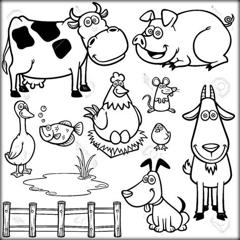 animals farm theme coloring pages print coloring