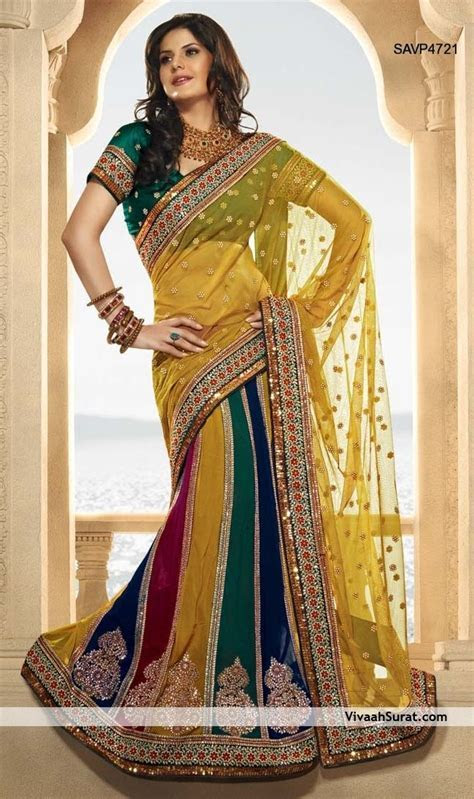 beautiful lehenga style saree savp4721 650×1,097