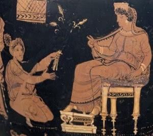 Δήμητρα και Μετανείρα – απεικόνιση σε Ελευσίνια υδρία.
