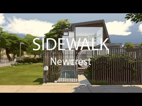SIMS 4 || HOUSETOUR ||SIDEWALK-PINTEREST INSP. [DOWNLOAD incl. Full CC]