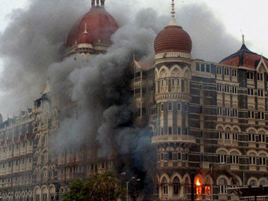 Taj Hotel in Mumbai under terrorist attack in 2008. PTI