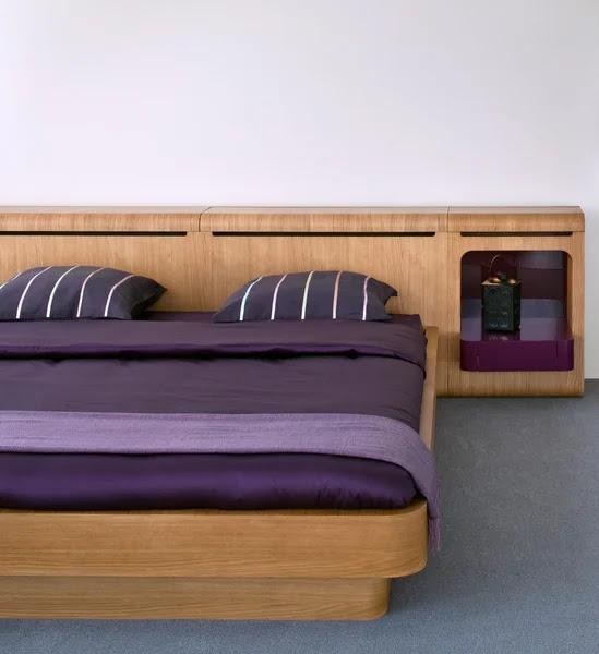 Beautiful and modern bedroom interior. Stock Photo ©