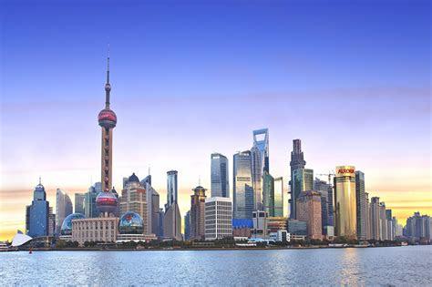 fonds decran chine shanghai maison gratte ciel soir