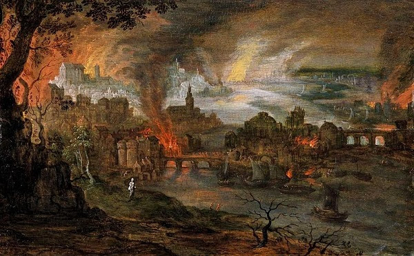 Artist's representation of Sodom and Gomorrah
