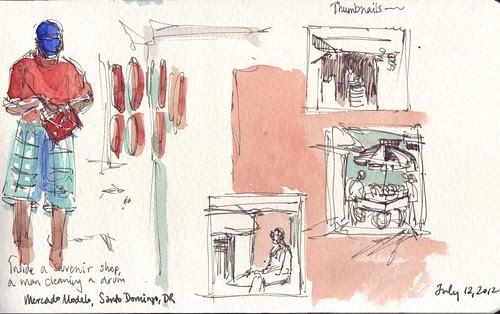 USK: Thumbnails at Mercado Modelo, Santo Domingo, Dominican Republic