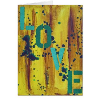 Graffiti Love 2 Card