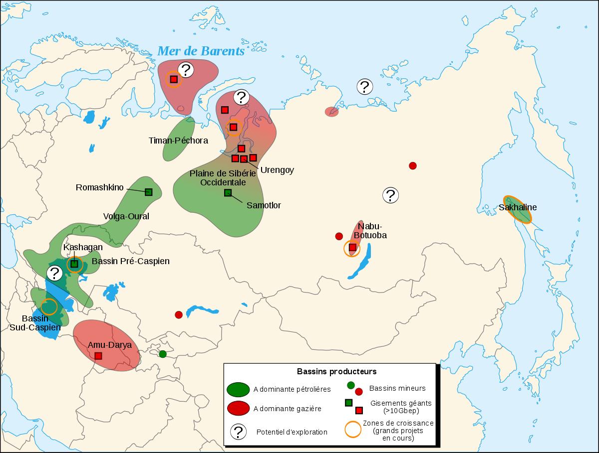 Regions Petroliferes En Russie Et Asie Centrale Wikipedia