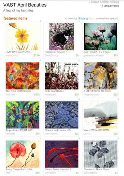 VAST April Beauties Treasury