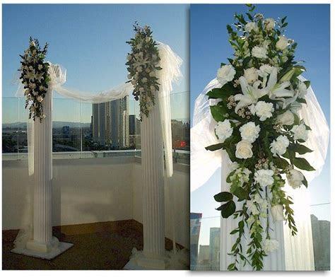 wedding columns ideas  pinterest church