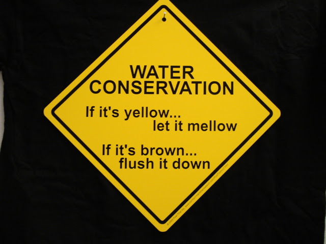 If it's mellow let it yellow, if it's brown flush it down