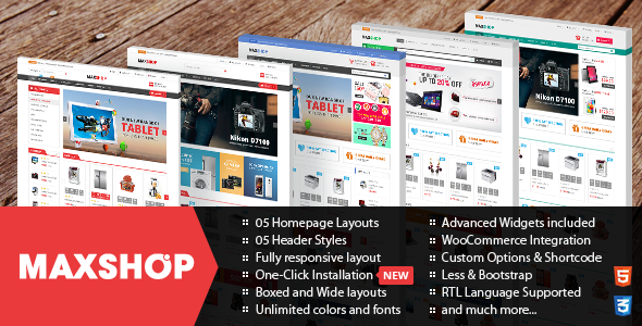 Maxshop v2.0.2 - Responsive WordPress WooCommerce Theme