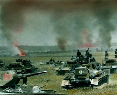 Deutsche Panzerspitze beim Einmarsch in die Ukraine