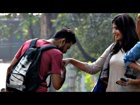 Kissing Cute Girls Hand Prank | AVRprankTV (Pranks in India)