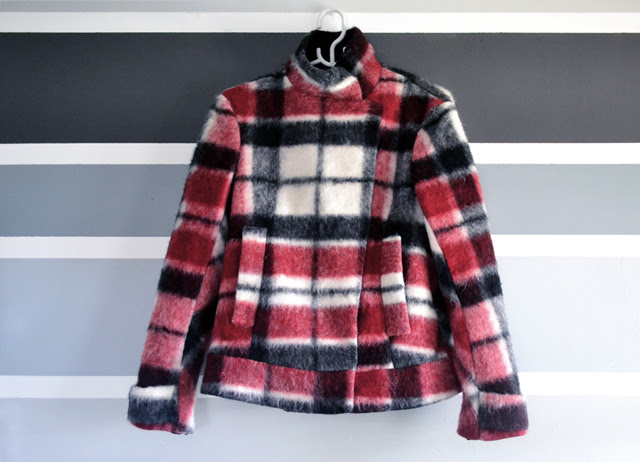 new in zara tartan jacket coat wool checkered red new collection fall winter 2013 2014 inspiration fashion blogger turn it inside out belgium