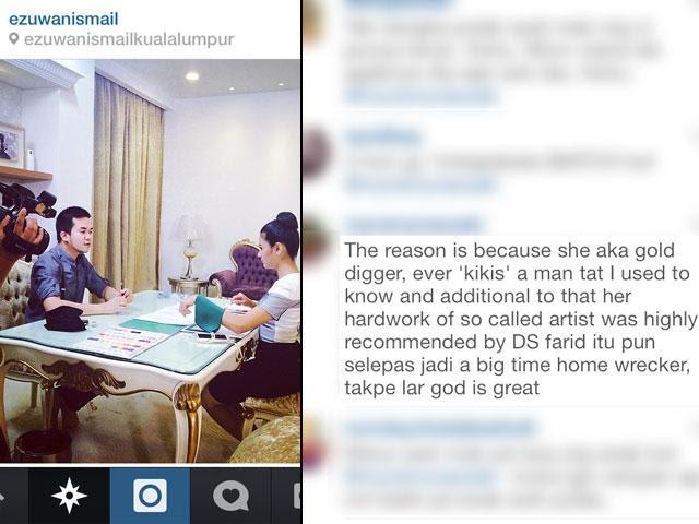 Fouziah Gous Bersabar Difitnah Dalam Instagram