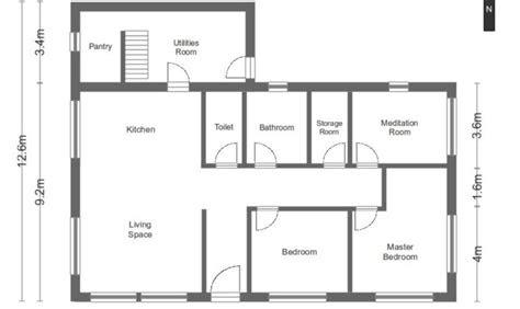 simple house floor plans measurements home plans