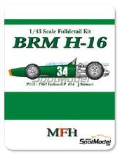 Kit 1/43 Model Factory Hiro - BRM H-16 - Nº 34 - J. Stewart - Gran Premio de Italia 1967 - kit Multimedia