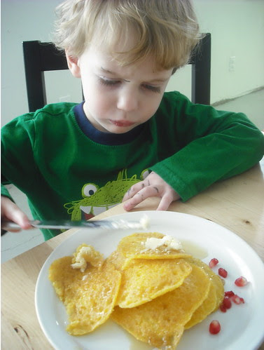 Oliver very intent on his plating.