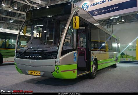 Ashok Leyland Optare Versa EV electric bus and FESLF CNG showcased in India