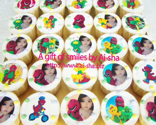 Birthday Cupcakes Edible Image Barney