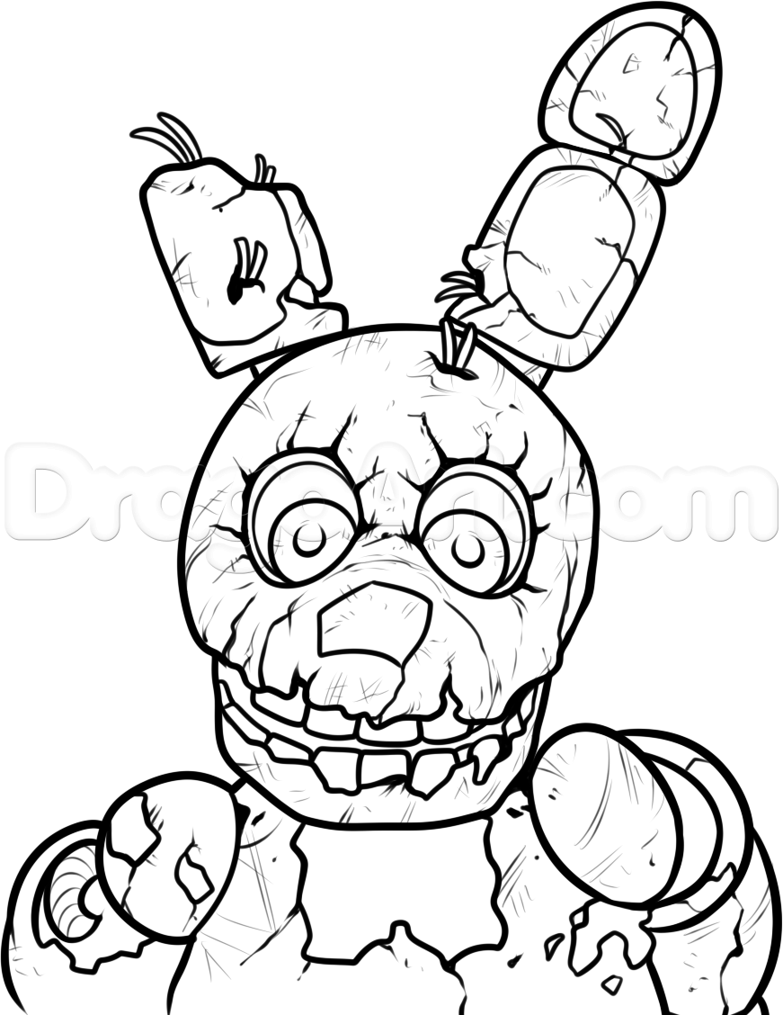 Golden Freddy Drawing At Getdrawingscom Free For Personal Use