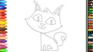Ucretsiz Yazdirilabilir Ugur Bocegi Ve Kara Kedi Boyamasi En