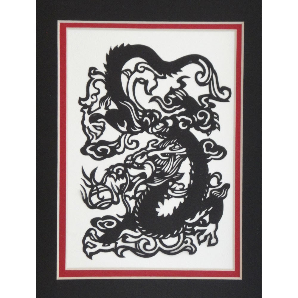 image dragon chinese new year papercut black papercuts studio