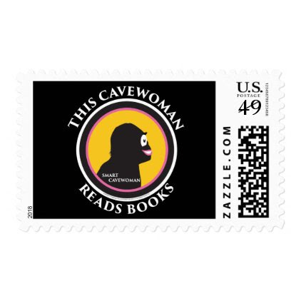 $0.49 Medium Postage Stamps Read Smart Cavewoman