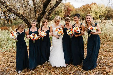 Minnesota fall wedding, navy orange and cream wedding