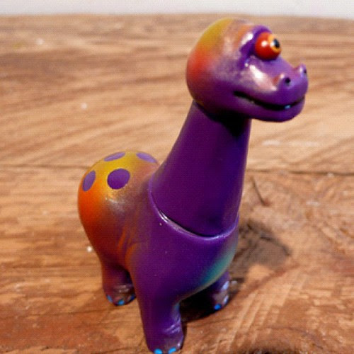 One-off Bronto-clops - on the Grasshut site now! http://grasshutcorp.com/blog/products-page/san-diego/rampage-toys-cycloptic-dinosaurs-purple-brontosaurus/