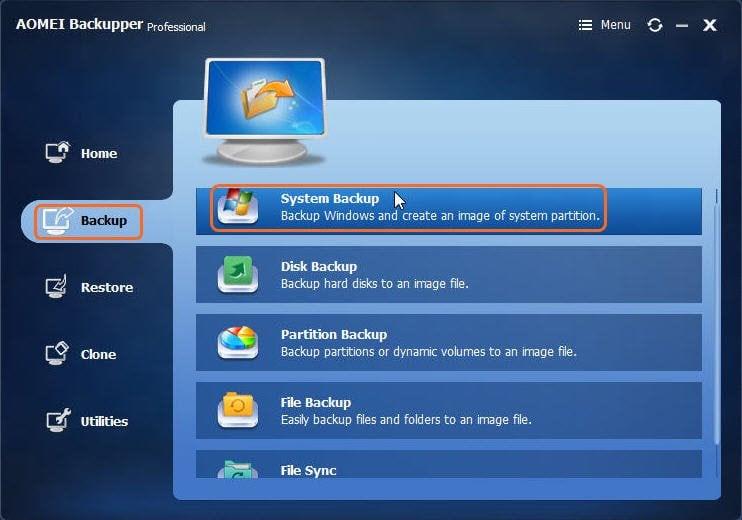 AOMEI Backupper Pro 3.5
