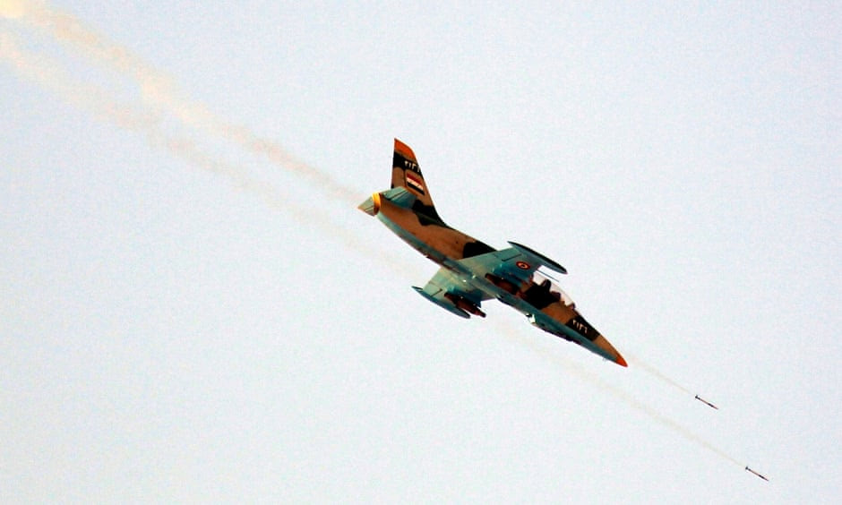 A Syrian Air Force fighter plane