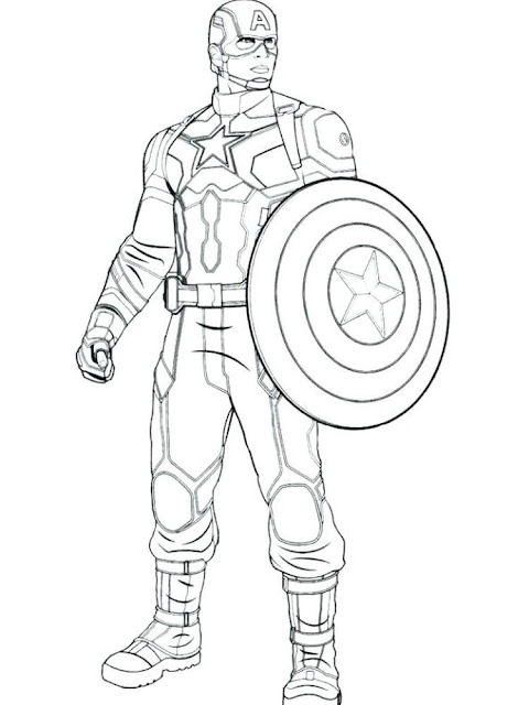Awesome Captain America Coloring