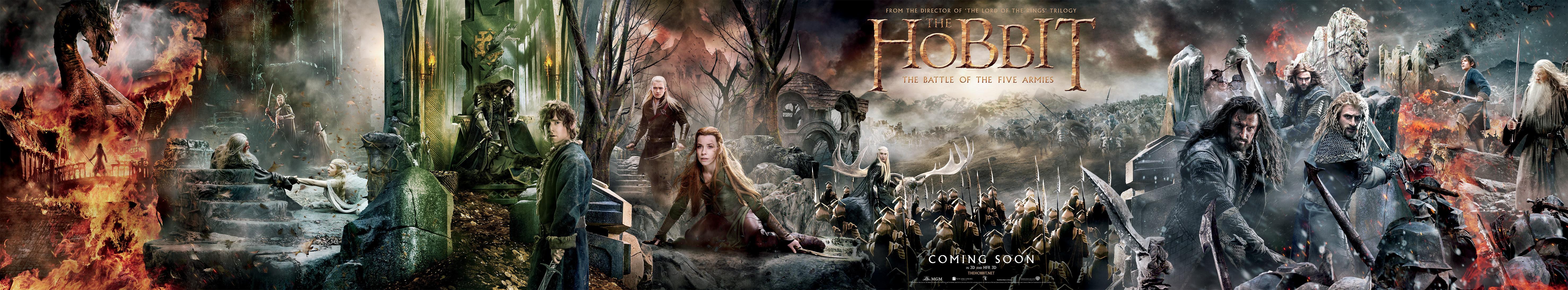 """Banner extragrande de """"El Hobbit: La Batalla de los cinco Ejércitos"""""""