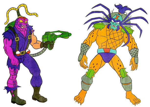(TMNT Spinoff) ..Mutanimals The Animated Series! - Scumbug & Toxeem..[[Courtesy of Ryan Brown]] ((1992))