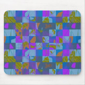 Mousepad with Abstract Multi-Color Design