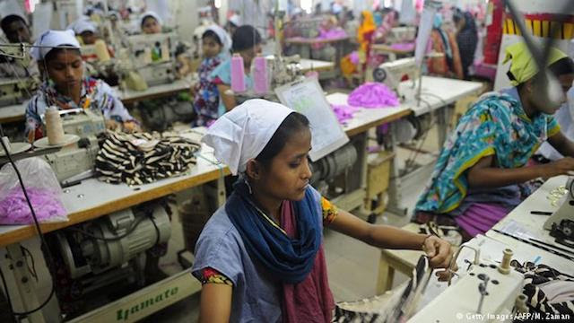 A garment worker in Bangladesh. Photo Courtesy of the Bangladesh Apparels Workers Federation
