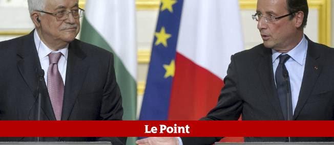 Mahmoud Abbas et François Hollande, le 6 juillet 2012 à l'Élysée.