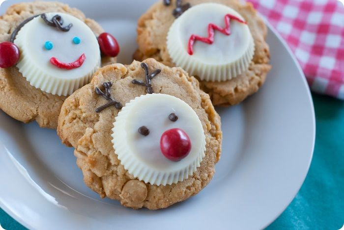 white chocolate peanut butter cup christmas cookies ::: white chocolate reese's peanut butter cups; they exist!