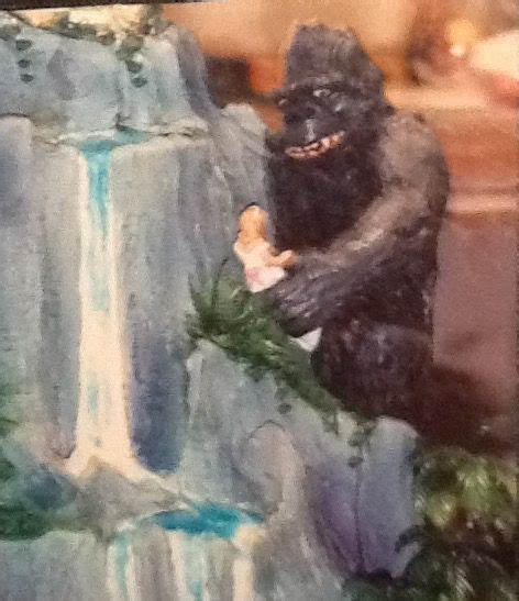 For King Kong wedding theme.   Assorted Cake Toppers