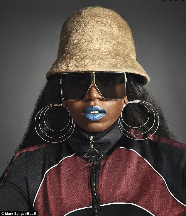 Superstar: Missy Elliott, 45, opened up on fashion inspirations and her public image in an interview for the June 2017 issue of Elle