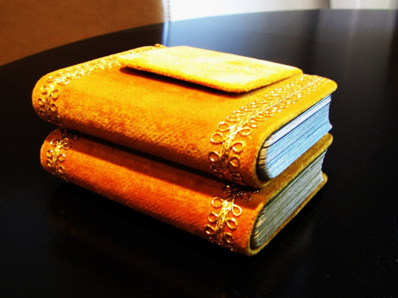 Velvet Book Shaped Playing Card Case