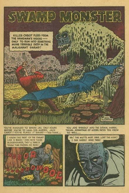 Basil Wolverton Swamp Monster Weird Mysteries 5 01