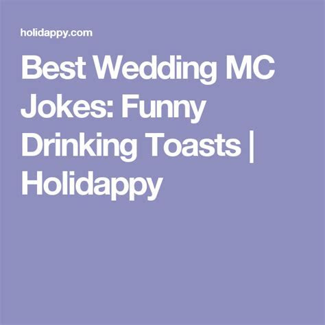 Best Wedding MC Jokes: Funny Drinking Toasts   Holidappy
