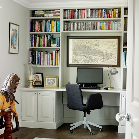 Home office desk storage  Traditional storage ideas  housetohome.co.uk