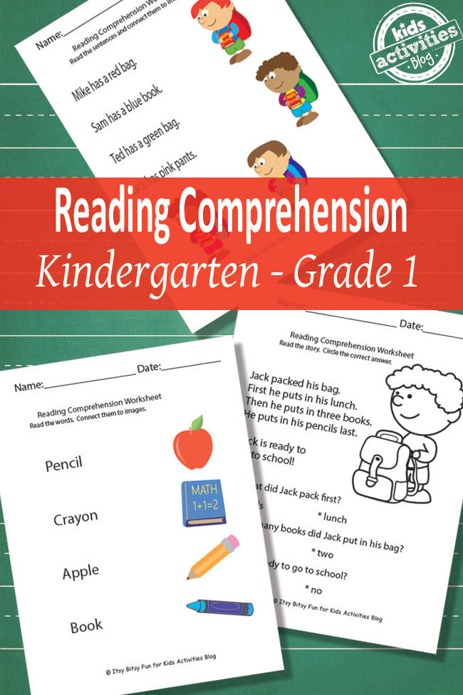 Back To School Reading Prehension Worksheets Free