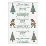 humorous christmas poem robin and xmas tree greeting card