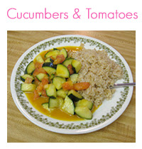 MEAL ICON cucumbers and tomatoes