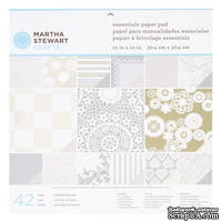 """Набор бумаги от Martha Stewart  - Paper Pad 12""""x 12"""" Kraft Doily Lace  - Кружево, 30х30 - ScrapUA.com"""